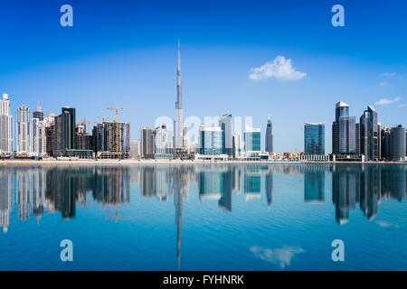 Skyline di Dubai, Emirati Arabi Uniti Foto Stock