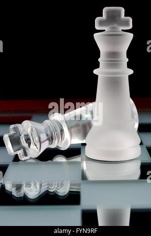 Scacchi kings battaglia Foto Stock