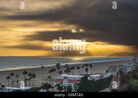 Palisades Park vista della baia di Santa Monica, CA, Stati Uniti d'America Foto Stock