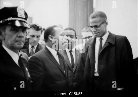Martin Luther King Jr. (1929-1968) era un pastore americano, attivista e leader di spicco nell'afro-americano di Foto Stock