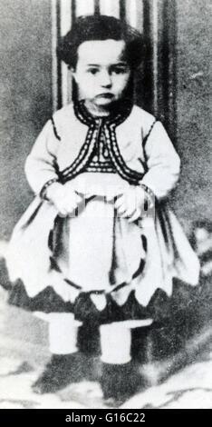 Toulouse-Lautrec fotografato all'età di 3. Henri de Toulouse-Lautrec, 24 novembre 1864 - 9 settembre 1901) è stato Foto Stock