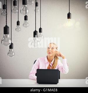 Business idea brillante Foto Stock