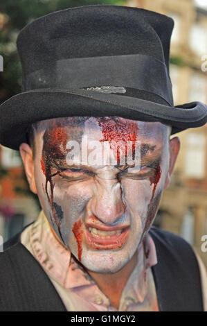 """Orrore compongono di """" morti viventi"""", horror di Londra, Halloween in anticipo Foto Stock"""