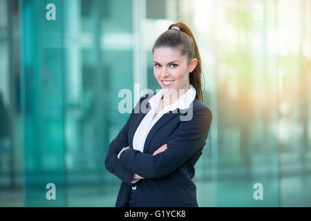 Ritratto di una imprenditrice Foto Stock
