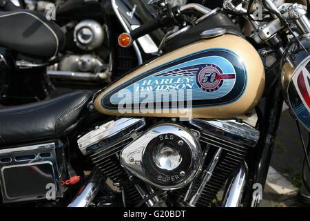 Dettaglio di un Harley Davidson Moto a Bonn, Germania