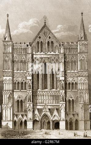 La Cattedrale di Salisbury, o chiesa cattedrale della Beata Vergine Maria, Salisbury, Inghilterra