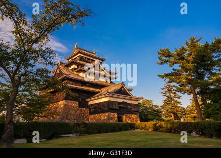 Matsue Castello, prefettura di Shimane, Giappone. Foto Stock