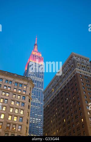 Empire State Building di New York City Foto Stock