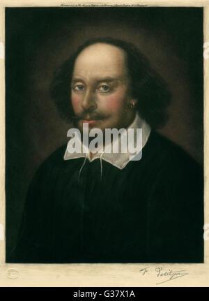 WILLIAM Shakespeare (1564 - 1616), drammaturgo inglese e poeta Foto Stock