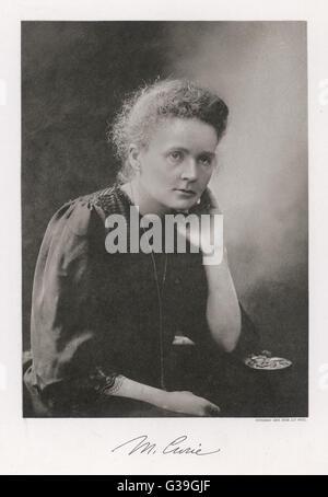 Le borse Marie Curie scienziata polacca. 1867-1934 Foto Stock