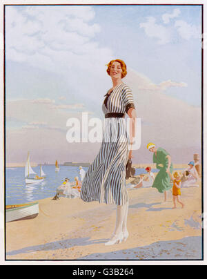 La Kodak Girl - un promemoria a tutti di prendere la loro fotocamera Kodak con loro al mare data: 1913 Foto Stock