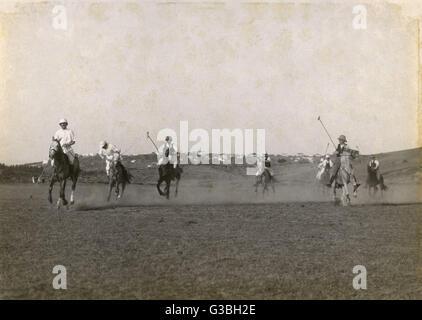 Una partita in corso da qualche parte in India. Data: circa 1912 Foto Stock