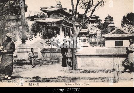 Il palazzo d'Estate a Pechino, Cina - un vasto insieme di laghi, giardini e palazzi, principalmente dominato dalla Foto Stock