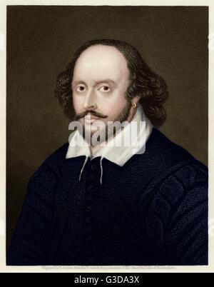 William Shakespeare (1564 - 1616) - inglese il drammaturgo e poeta. circa 1605 Foto Stock