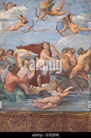 Trionfo di Galatea di Raffaello,1512, Villa Farnesina, Roma, Italia, Europa Foto Stock