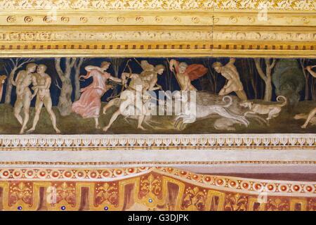 Sala del fregio, da Baldassarre Peruzzi ,Villa Farnesina, Roma, Italia, Europa Foto Stock