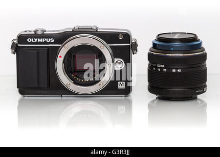 Stock Photo - Olympus mirrorless PENNA TELECAMERA DIGITALE Foto Stock