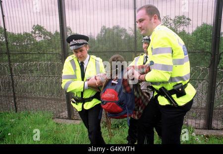 Protesta FASLANE/arresto Foto Stock