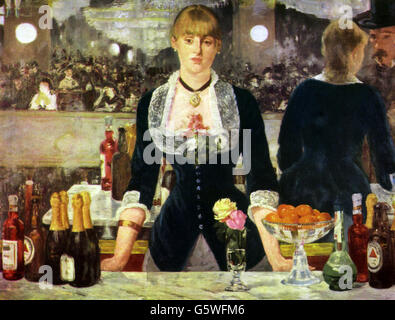 Belle arti, Manet, Edouard (1832 - 1883), pittura, , Additional-Rights-Clearences-NA Foto Stock
