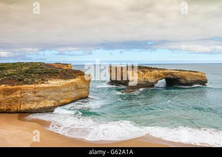 Dodici apostolo Australi spiaggia Foto Stock