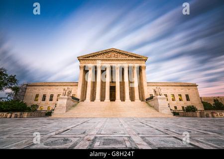 La Corte suprema degli Stati Uniti nella costruzione di Washington DC, Stati Uniti d'America. Foto Stock