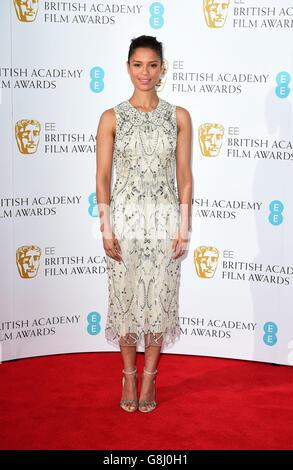 Gugu Matha-Raw partecipa all'annuncio delle candidature ai British Academy Awards dell'EE al BAFTA di Londra.