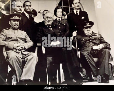 La Conferenza di Teheran (nome in codice) Eureka è stata una riunione sulla strategia di Joseph Stalin, Franklin Foto Stock