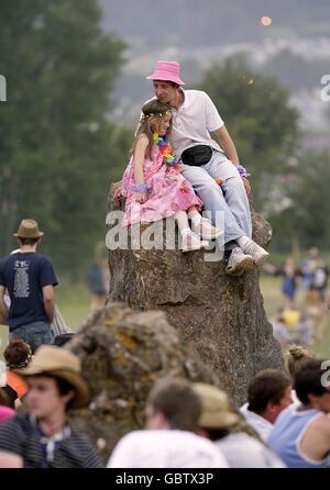 Glastonbury Festival 2009 - Arrivi Foto Stock