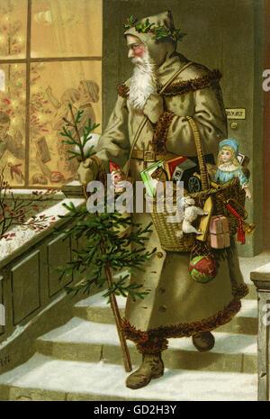 Descrizione Di Babbo Natale Per Bambini.Natale Babbo Natale Descrizione Originale Di San Nicola Che Porta