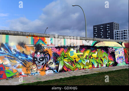 Muro di Berlino - East Side Gallery Foto Stock