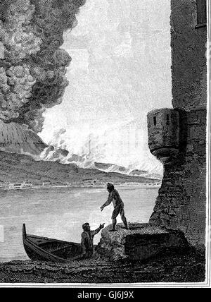 Un account del tardo eruzione del Vesuvio. In una lettera inviata da destra onorevole Sir William Hamilton, K. B. Foto Stock
