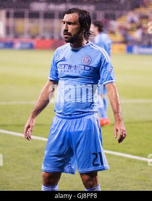 Columbus, U.S.A. 13 Ago, 2016. Agosto 13, 2016: New York City FC centrocampista Andrea Pirlo (21) durante la prima metà della partita contro Columbus. Columbus, OH, Stati Uniti d'America. (Brent Clark/Alamy Live News)