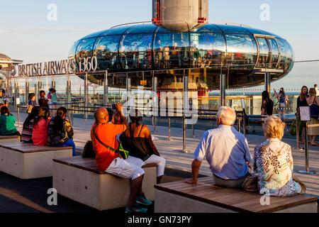 La British Airways i360 torre di osservazione, Brighton, Sussex, Regno Unito Foto Stock