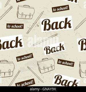 Si torna a scuola seamless pattern. Foto Stock