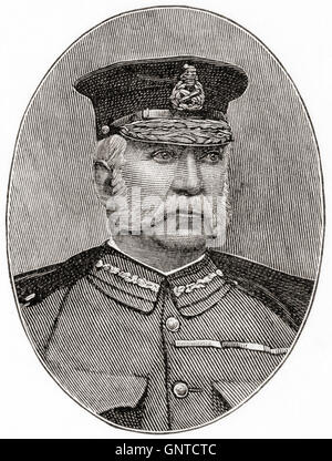 Il tenente generale Sir William Francis Butler, 1838 - 1910. Irish 19esimo secolo ufficiale dell'esercito britannico, Foto Stock