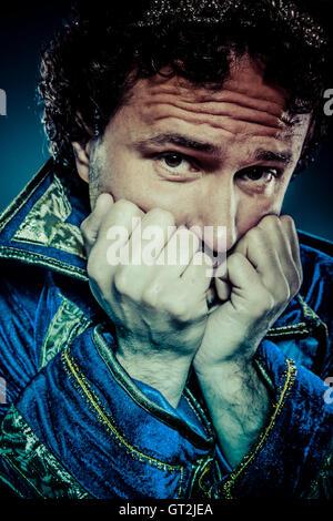 Il principe azzurro, nobiltà concetto, divertenti immagini di fantasia Foto Stock