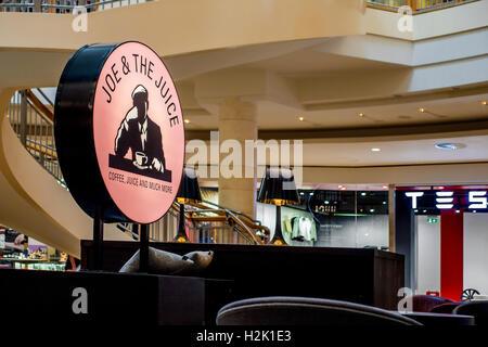 Joe Bar dei succhi Centro commerciale Bluewater Dartford Inghilterra REGNO UNITO Foto Stock