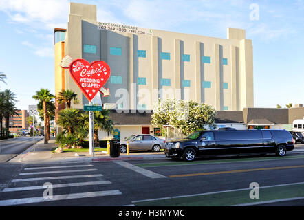 Amorini Cappella per Matrimoni, Downtown Las Vegas Foto Stock