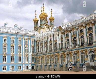 La Russia, vicino a San Pietroburgo e Pushkin, Katharinenpalast, il palazzo della chiesa Eurasia, Europa, Est Europa, Foto Stock