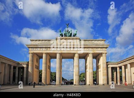 Germania, Berlino, la Porta di Brandeburgo, Paris square, Foto Stock