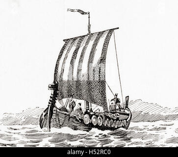 Una nave di Norman. Foto Stock