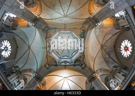 Monaco di Baviera, Germania - 15 Maggio 2016: San Luca chiesa a Monaco di Baviera, in vista del soffitto a cupola Foto Stock