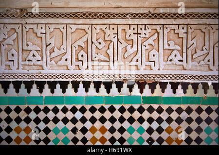Berber arabesque morcabe plasterwok zellige piastrelle di una