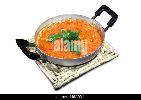 Uno turco-pan uova e peperoni (Menemen) Foto Stock