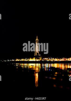 La Blackpool Tower. Lancashire. In Inghilterra. Regno Unito Foto Stock