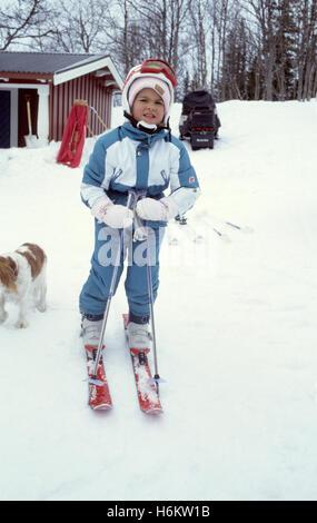 PRINCESS MADELEINE alle Alpi svedese Storlien per la parte orientale della vacanza per sciare e rilassarsi nella Foto Stock