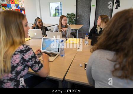 Gli studenti di un ROC (formazione professionale) in Olanda Foto Stock