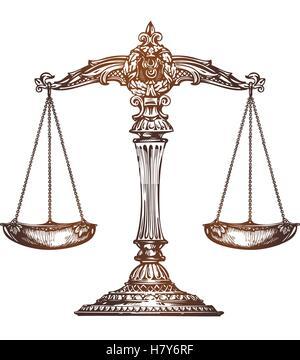 Scale Di Giustizia Illustrazione Vettoriale 207533715 Alamy