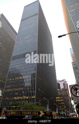 NEW YORK, Stati Uniti. 24 AGOSTO 2016. Grattacieli di Manhattan al tramonto, New York City, Stati Uniti d'America Foto Stock