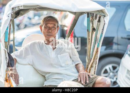 La vita quotidiana del popolo Thai in Hua Hin Tailandia Foto Stock
